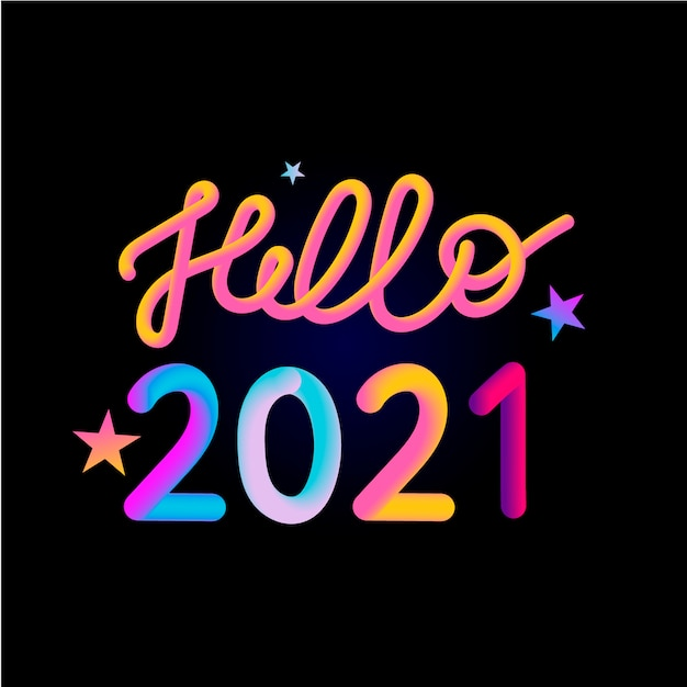 Illustration: colorful 3d number of 2021 on white ...