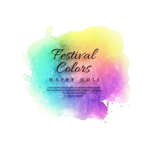 Illustration of colorful happy holi celebration background Premium Vector