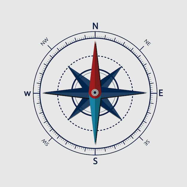 Illustration of compass Free Vector