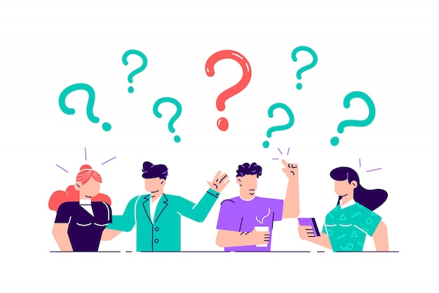 Premium Vector | Illustration. concept illustration of people frequently  asked questions around question marks. answer to question metaphor - . flat  style illustration for web page, social media.