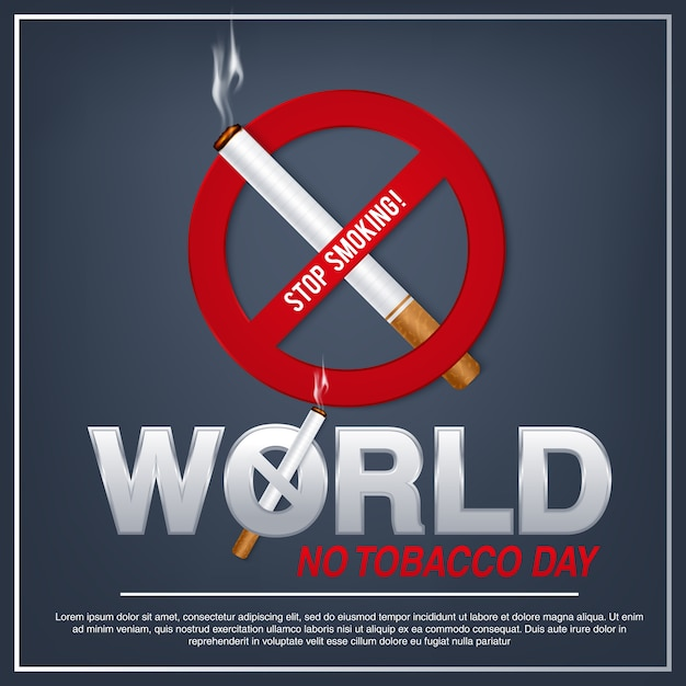 Illustration of concept no smoking day world,31 may Premium Vector