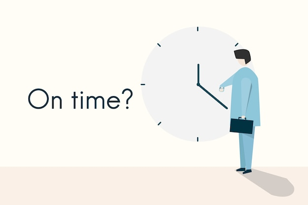Illustration of the concept and quote on time? Free Vector