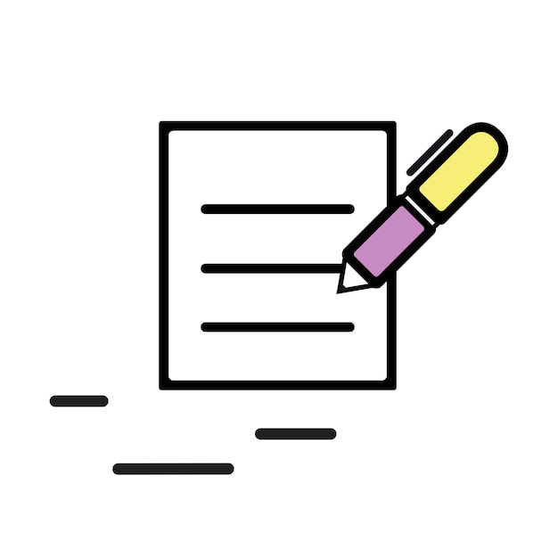 Illustration of contract icon Free Vector