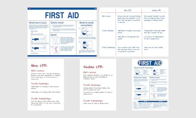 Illustration of cpr emergency rescue Free Vector