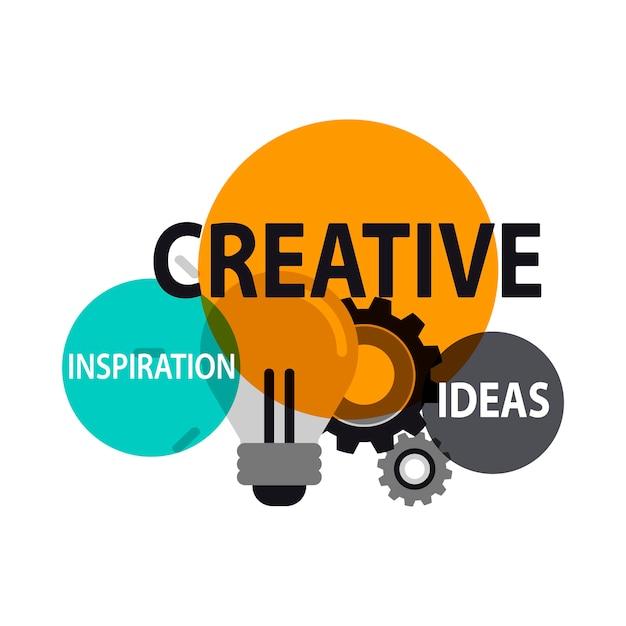 Illustration of creative ideas Free Vector