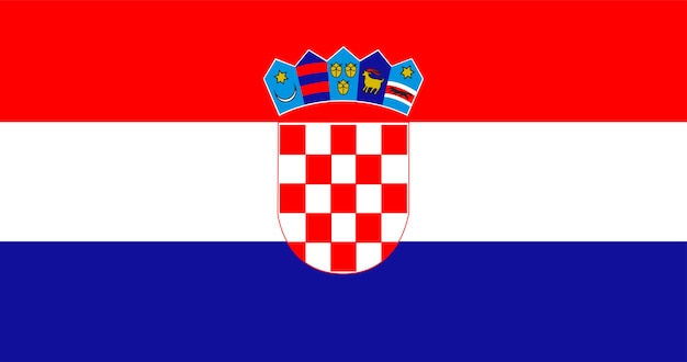Illustration of croatia flag Free Vector