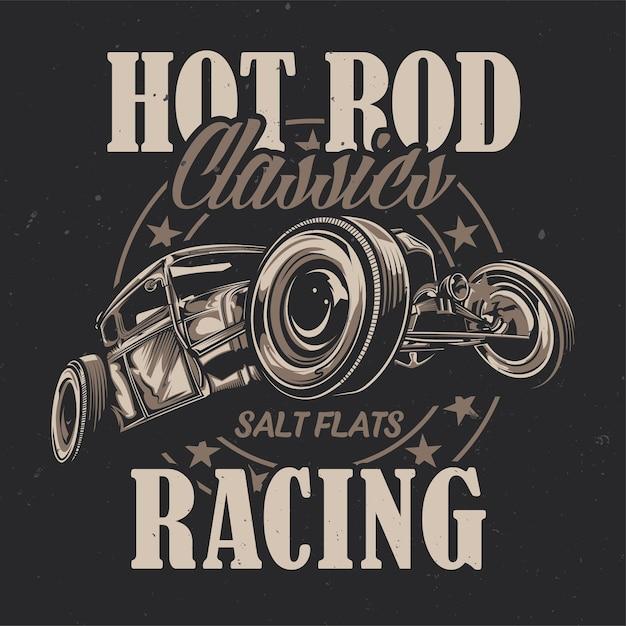Illustration of custom hot rod Free Vector