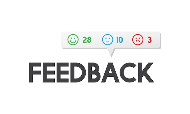 Illustration of customer feedback Free Vector