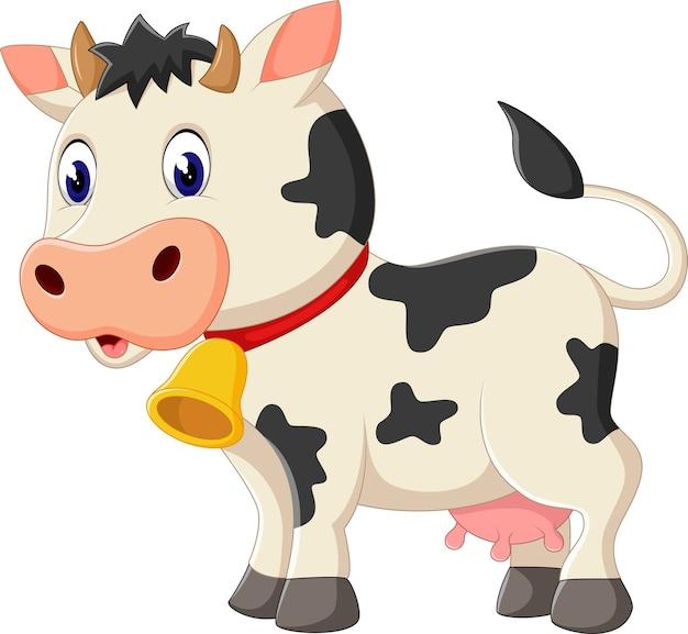 Illustration of cute cow cartoon Premium Vector
