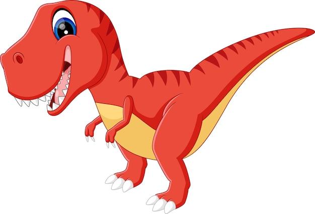 Illustration of cute dinosurs cartoon Premium Vector