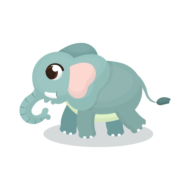 Illustration of cute elephant character with cartoon style Premium Vector