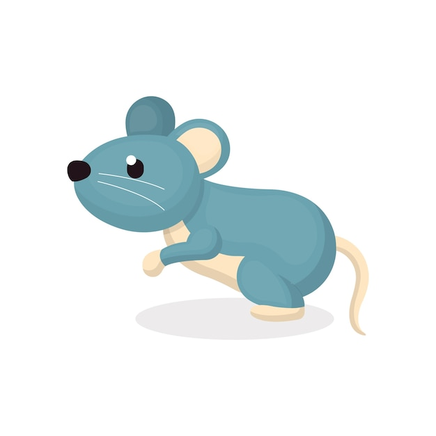 Illustration of cute mouse character with cartoon style ...