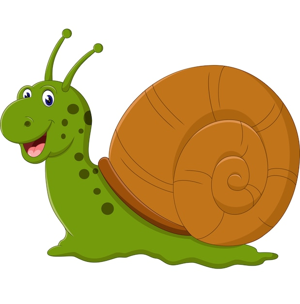 Illustration of cute snail cartoon | Premium Vector