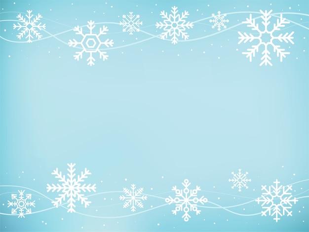 Illustrazione delle icone di fiocco di neve carino Vettore gratuito