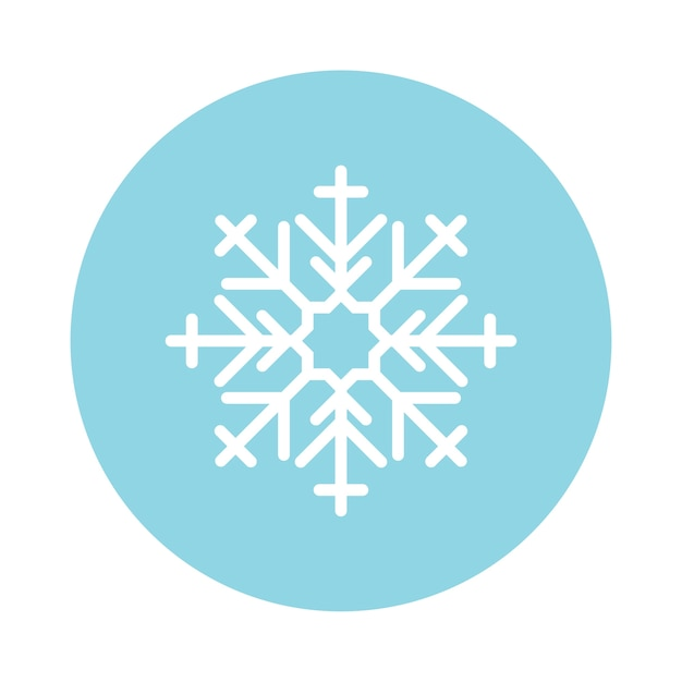 Illustration of a cute snowflake Free Vector