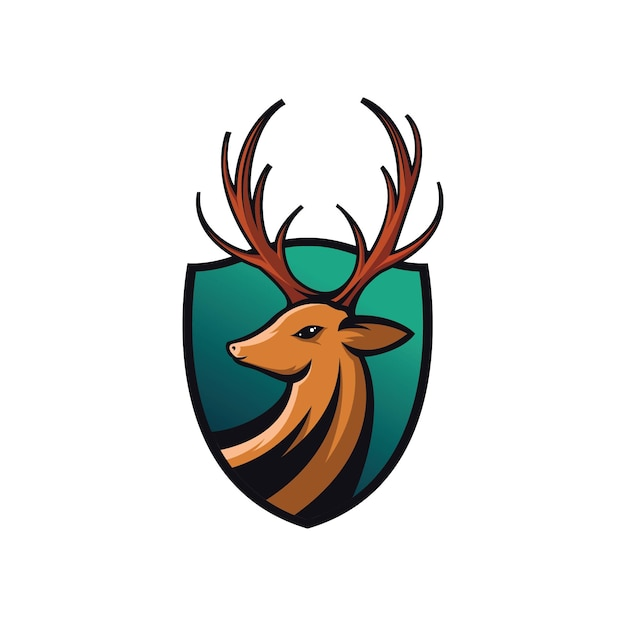 Illustration of deer shields Premium Vector