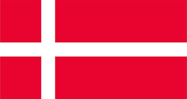 Illustration of denmark flag Free Vector