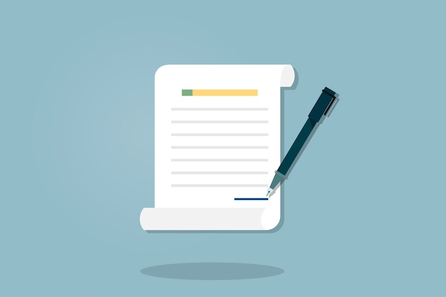 Illustration of document icon Free Vector