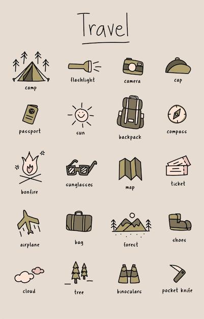 doodle camping et voyage