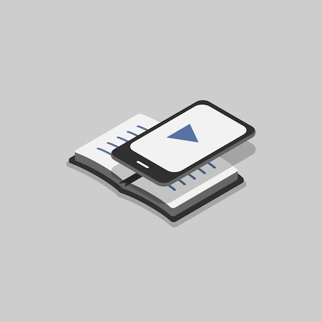 Illustration of e-book Free Vector