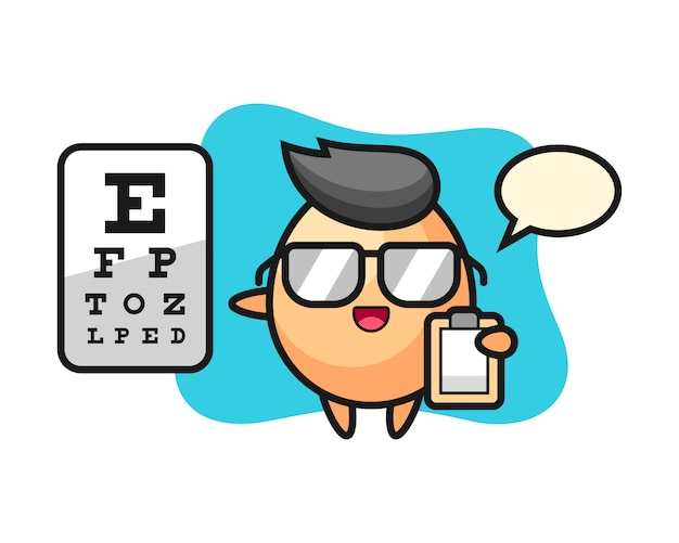 Illustration of egg mascot as a ophthalmology, cute style  for t shirt, sticker, logo element Premium Vector