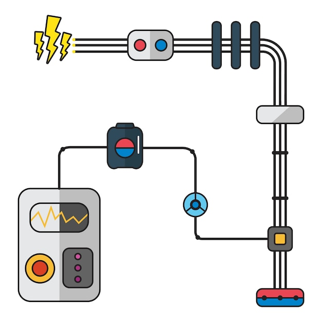 Illustration of electricity Free Vector
