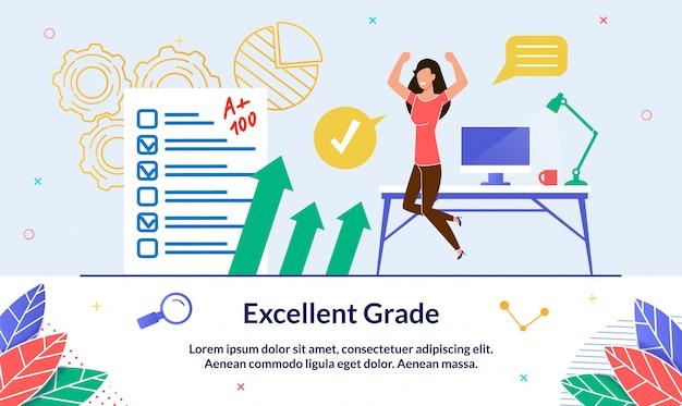 Illustration excellent grade Premium Vector