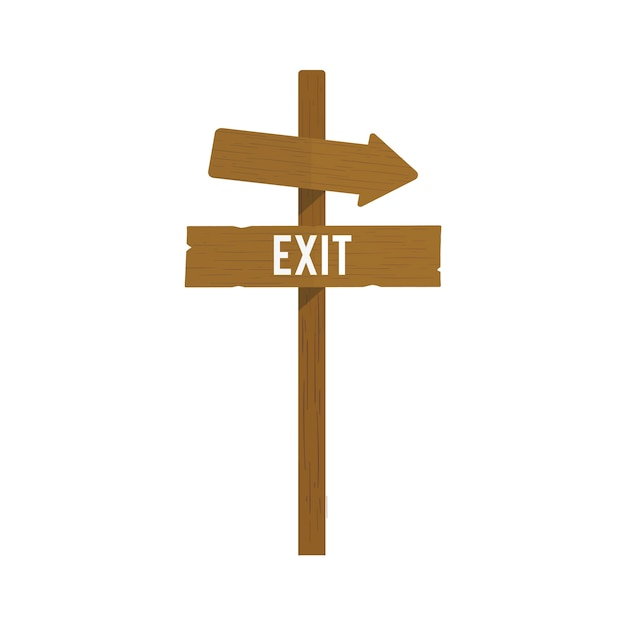 Illustration of exit sign vector Free Vector
