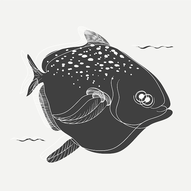 Illustration of a fish Free Vector