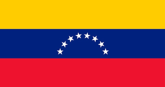 Illustration flag of venezuela Free Vector