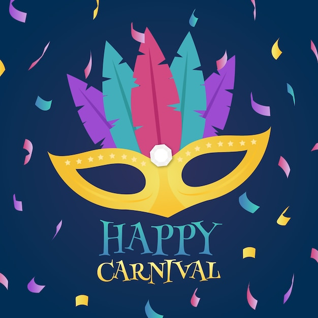 Illustration of flat carnival mask Free Vector