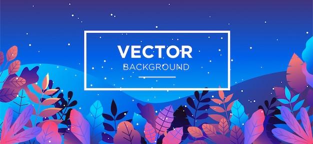 Illustration flat style background Premium Vector