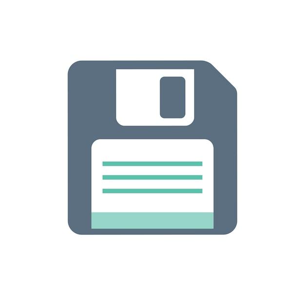 Illustration of floppy disk Free Vector