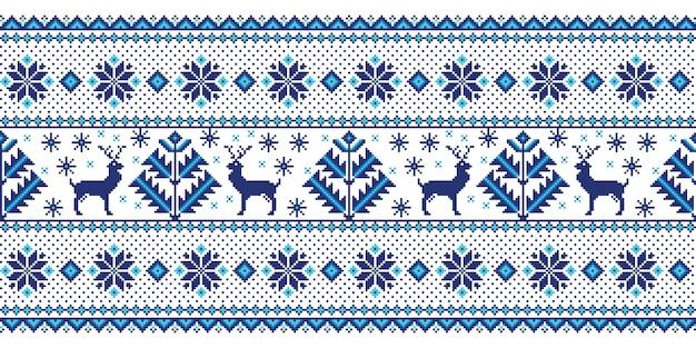 Illustrazione di ornamento folk seamless Vettore gratuito