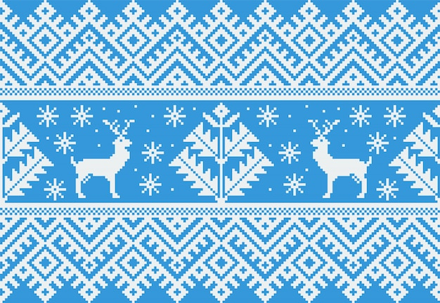 Illustration of folk seamless pattern ornament Free Vector