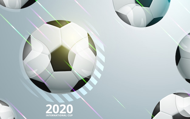 Illustration of football championship soccer sports background Premium Vector