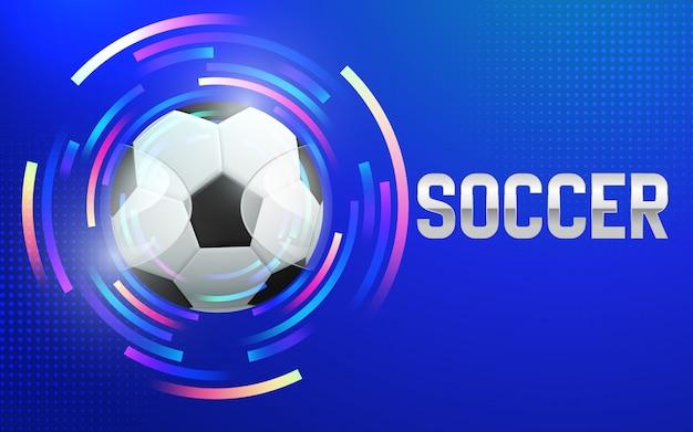 Illustration of football championship soccer sports background. Premium Vector
