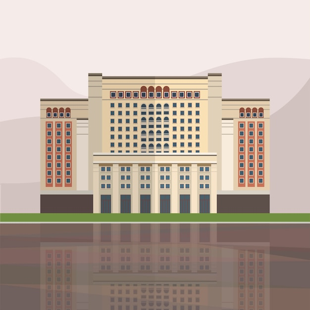 Illustration of four seasons hotel moscow Free Vector