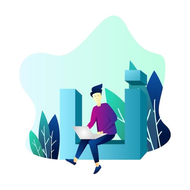 Illustration from ui/ux designer Premium Vector