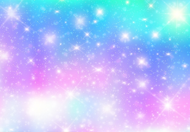 Illustration of galaxy fantasy background and pastel color Premium Vector