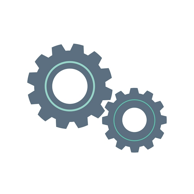 Illustration of gear doodle icon Free Vector