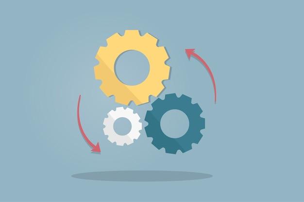 Illustration of gears Free Vector