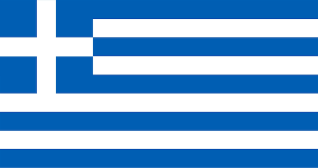 Illustration of greece flag Free Vector
