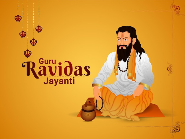 Illustration of guru ravidas jayanti Premium Vector