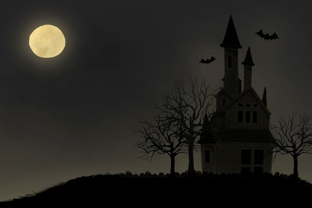 Illustration of halloween themed background Free Vector