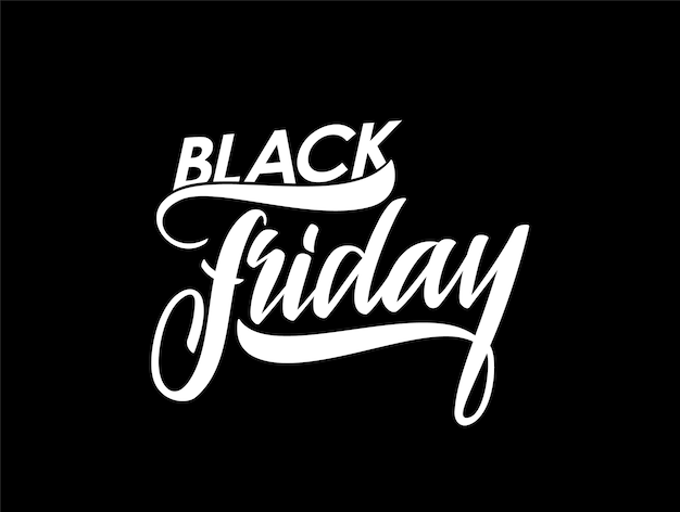 Illustration: hand lettering of black friday. Premium Vector