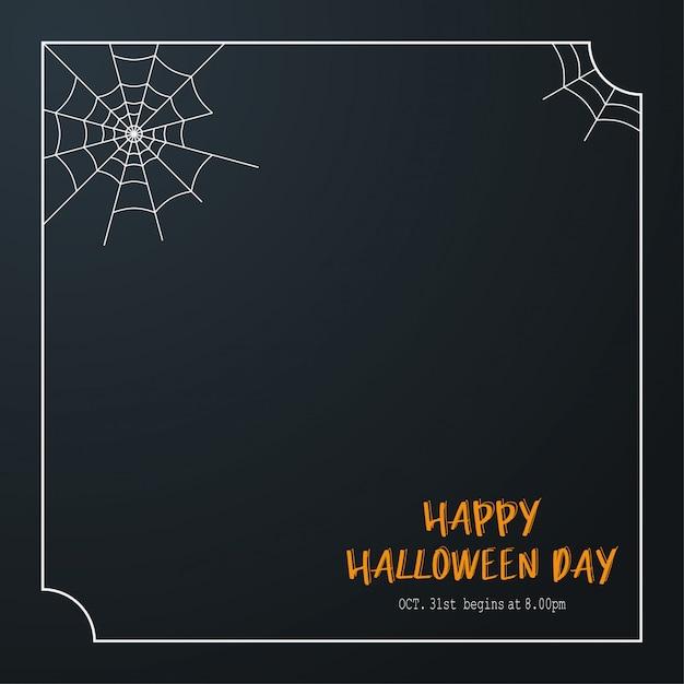 Illustration happy halloween day. Premium Vector