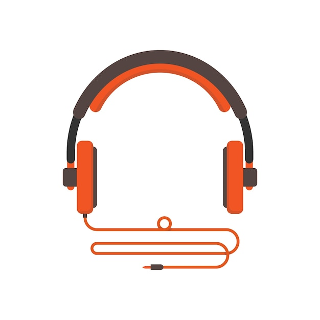 Illustration of headphone isolated in white Premium Vector