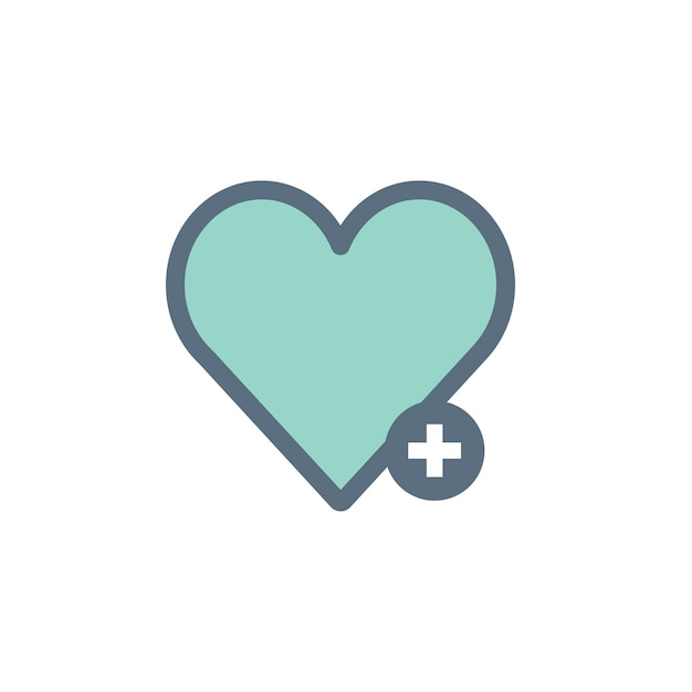 Illustration of heart icon Free Vector