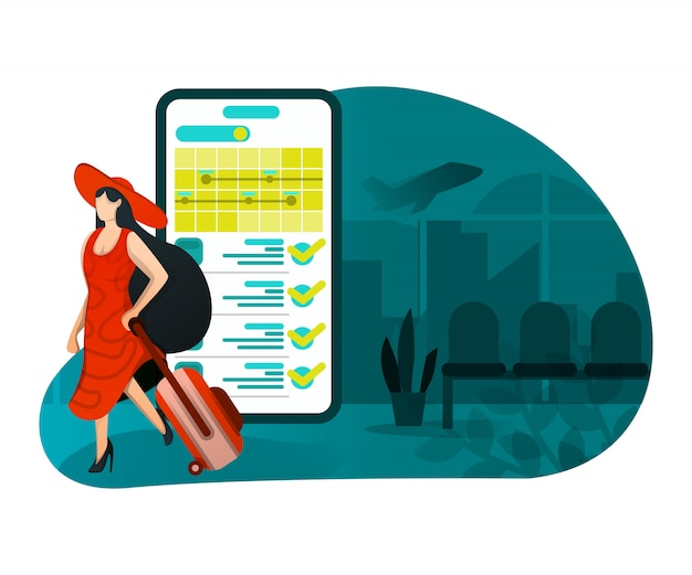 Illustration of holidays with technology Premium Vector